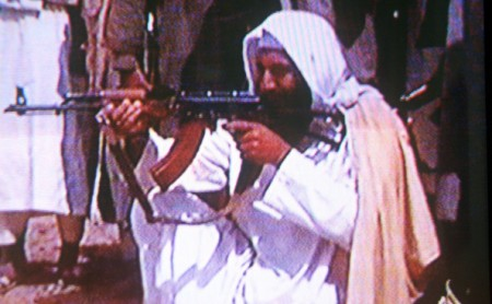 bin laden with gun osama bin laden. that Osama Bin Laden died