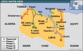 Water War in Libya   Gaddafi Is Not NATOs Target